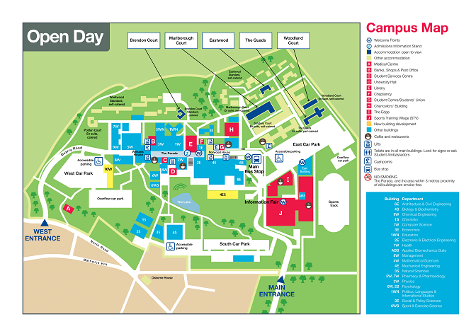 Bath Uni Map University of Bath